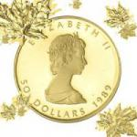 Kanada Goldmünzen Maple Leaf