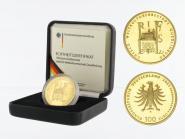 BRD 100 Euro Gold, 2003 G, Quedlinburg, original
