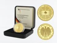 BRD 100 Euro Gold, 2005 F, Fußball WM 2006, original