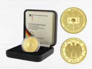 BRD 100 Euro Gold, 2005 G, Fußball WM 2006, original