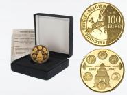 Belgien 100 Euro Gold, Münzprägung  2007, original