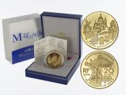 Frankreich 20 Euro Gold, 2002, Montmartre