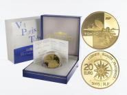 Frankreich 20 Euro Gold, 2003,  Flug Paris-Tokio