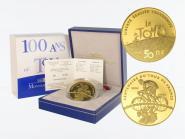 Frankreich 50 Euro Gold, 2003, Radrennfahrer