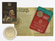 San Marino 2 Euro Münze, 2007,Garibaldi im Folder