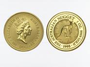 Australien 100 $ Nugget Känguru, 1 Unze  1995