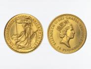 Großbritannien  25 Pfund Britannia , 1/4 Unze Feingold