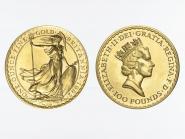 Großbritannien 100 Pfund Britannia, 1 Unze Feingold