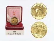 Österreich 1000 Sh. Gold, 1995, 50 Jahre 2. Republik