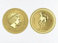 Australien 100 $ Lunar I Pferd, 1 Unze  2002