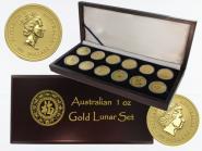 Australien Lunar I komplett, 1996-2007, 12 x 1oz Gold