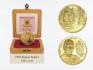 Österreich 1000 Sh. Gold, 1999, Kaiser Karl I