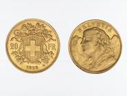 Schweiz 20 Franken Vreneli Goldmünze 1898