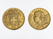 Schweiz 20 Franken Vreneli Goldmünze 1902