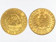 Österreich 1000 Sh. Gold, 1976, Babenberger