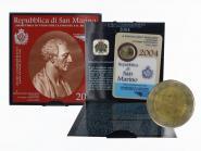 San Marino 2 Euro Münze, 2004, Borghesi im Folder