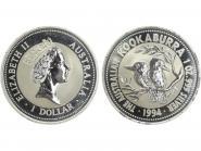 Australien 1$ Kookaburra 1994, 1 oz  Silber
