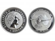 Australien 1$ Kookaburra 2002, 1 oz  Silber