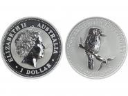 Australien 1$ Kookaburra 2005, 1 oz  Silber