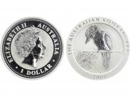 Australien 1$ Kookaburra 2008, 1 oz  Silber
