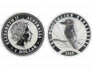 Australien 1$ Kookaburra 2009, 1 oz  Silber