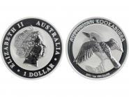 Australien 1$ Kookaburra 2011, 1 oz  Silber