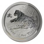 Australien 30 $ Tiger Lunar II  2010, 1 Kilo Kg  Silber