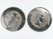 Australien 10$ Kookaburra 1992, 10 oz  Silber