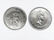 Australien 2$ Kookaburra 1997, 2 oz  Silber