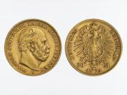Preussen, 20 Mark Gold, Wilhelm I, 1873 B , Jg. 243