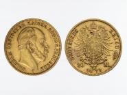 Preussen, 20 Mark Gold, Wilhelm I, 1873 C , Jg. 243