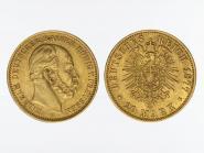 Preussen, 20 Mark Gold, Wilhelm I, 1877 A, Jg. 246