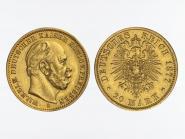 Preussen, 20 Mark Gold, Wilhelm I, 1877 B , Jg. 246