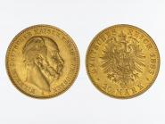 Preussen, 20 Mark Gold, Wilhelm I, 1883 A , Jg. 246