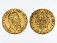 Preussen, 20 Mark Gold, Friedrich III, 1888 A , Jg. 248