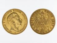 Preussen, 20 Mark Gold, Wilhelm II, 1896 A , Jg. 252