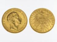 Preussen, 20 Mark Gold, Wilhelm II, 1898 A , Jg. 252