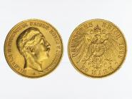 Preussen, 20 Mark Gold, Wilhelm II, 1899 A , Jg. 252