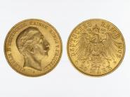 Preussen, 20 Mark Gold, Wilhelm II, 1902 A , Jg. 252