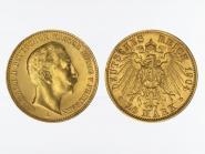 Preussen, 20 Mark Gold, Wilhelm II, 1904 A , Jg. 252
