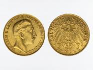 Preussen, 20 Mark Gold, Wilhelm II, 1910 A , Jg. 252