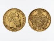Belgien Leopold II  1877, 20 Francs Gold