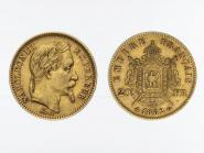 Frankreich 20 Fr. Napoleon III/  Wappen  1862 A