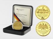 BRD 100 Euro Gold, 2011 F, Wartburg, original