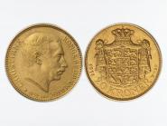 Dänemark Christian X  1914, 20 Kroner Gold