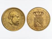 Niederlande 10 Gulden Gold König Willem III. 1876