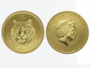 Australien 100 $ Lunar II  Tiger, 1 Unze  2010