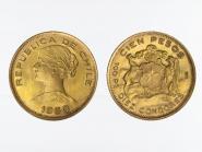 Chile 100 Pesos Freiheitskopf 1960