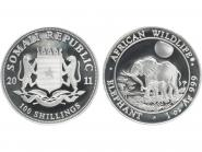 Somalia 100 Sh. Elefant  2011, 1 Unze