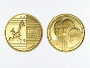 Belgien 100 Euro Gold, Gründerväter 2002, original